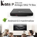 Fctory Price KM8P android6.0 Amlogic S912 mini pc android tv box 1g/8g ott tv box internet tv droid box game controller set top