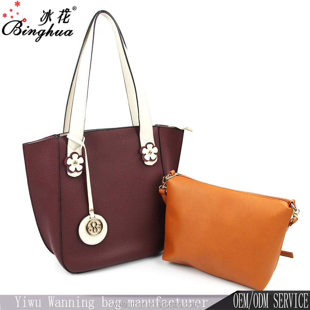 A-232 Handbag Manufacturers China supplier Low Price multi-functional PU Leather Ladies Tote Bags Handbag Set