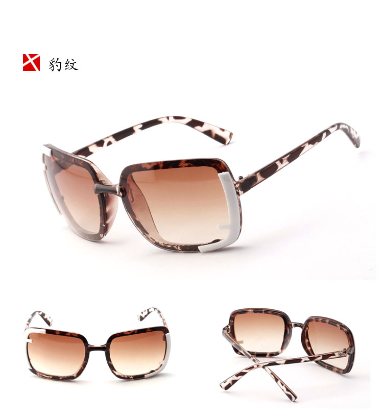 2014 New Design Womens Fashionable Leopard Print Sunglasses MOQ 1PCS Only