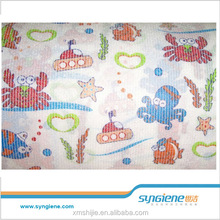 SYNGIENE 2016 diaper material free samples nonwoven fabric frontal tape nappy loop