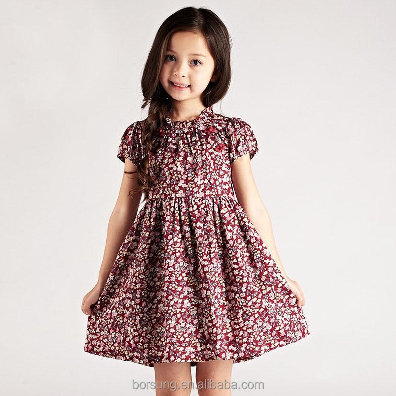 2015 Latest Princess Little Girl Dresses Designs Short