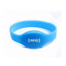 HF 13 56MHz ISO14443A Writable RFID Silicone Wristbands For Cashless Payment
