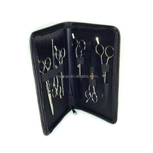 Black Roll Leather Hair Stylist Tool Case For Barber Hairdresser