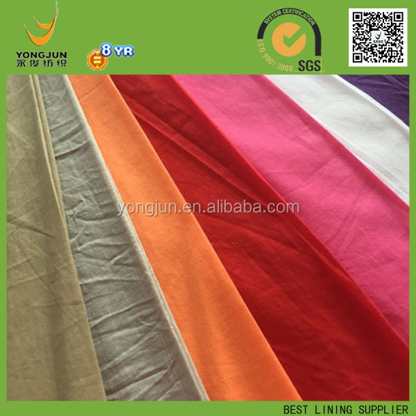 100% COTTON PLAIN POPLIN FABRIC