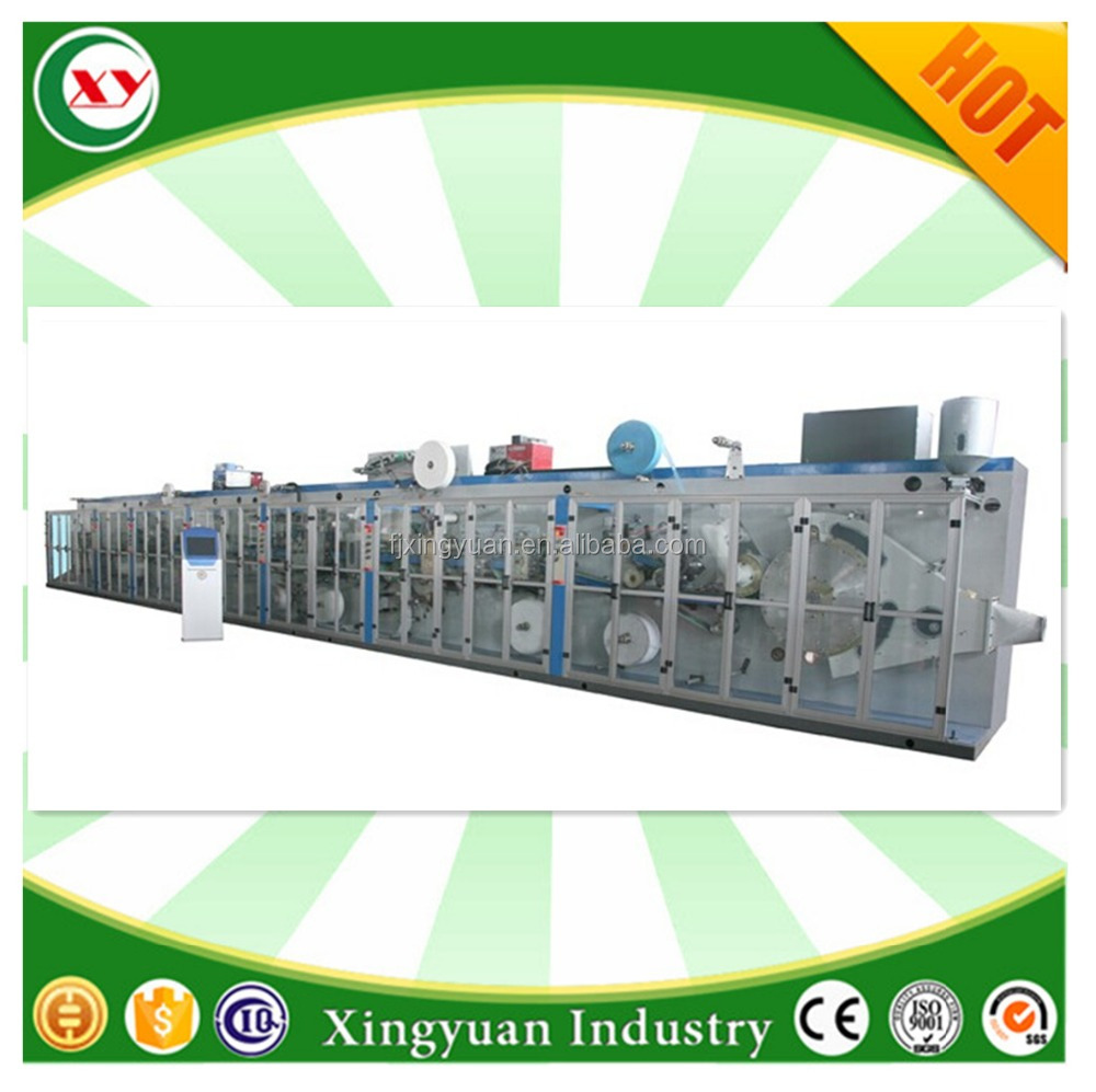 Disposable female sanitary napkin making machine