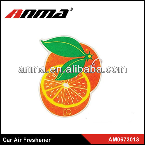 Nice anima cartoon shape car paper air freshener hanging paper car air freshener