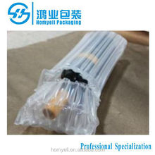wine protective air inflated film packaging,air sealed bag for wine bottle shipping protection,air filled bags packaging