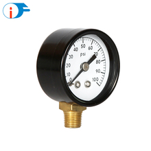 Factory Direct Sale Black Steel Case Digital Pressure Gauge Price with Acrylic Windows