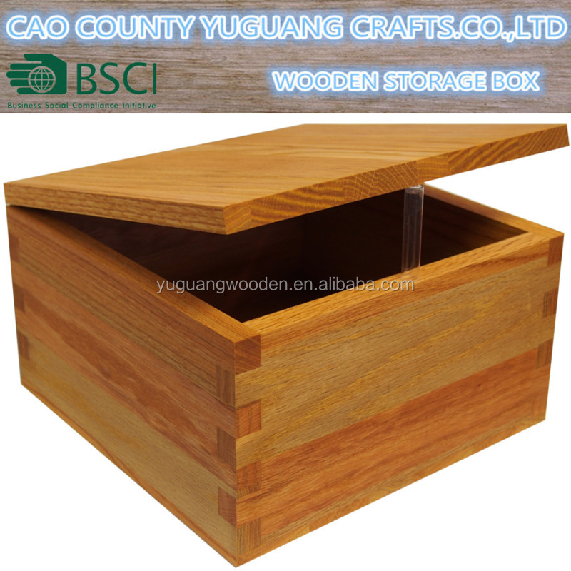 Large Hinged Wooden Keepsake Memory Storage Box