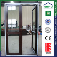 UPVC red wood color safety door design
