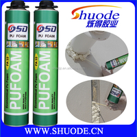 high expansion 750ml aerosol canned foam pu sealant