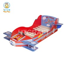2016 New Design 140x70CM Mattress Kids Cartoon Bed, Safe E1 MDF Board Wooden Children Bed, Plane Bed For Whole