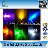 3mm round led red/white/green/blue/yellow