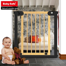 Adjustable Baby Safety Wood Pet Puppy Stairs Child Proof Pressure Mount Gate