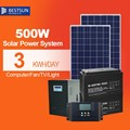 BESTSUN BFS-500W home solar power system,off grid solar power system home (solar panel+solar inverter+battery+solar panel rack)