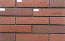Sintered clay red bricks used for wall decoration
