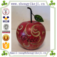 factory custom made hot new product resin large red apple for decoration