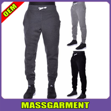 2016 Latest Active Basic Slim Fit Mens Jogger Pants Elastic Pants Gray