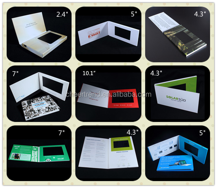 Greeting Card Card  Product Type TFT 7inch video brochure video greeting card for promotion