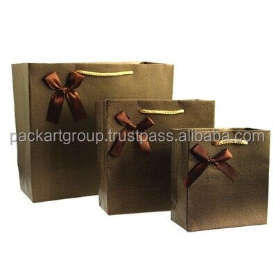 Elegant customized printed paper shopping bag & paper gift bag