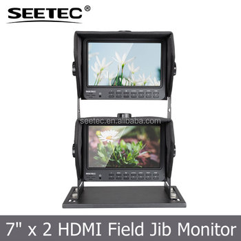 "Small Portable Camera Top Field IPS LCD Screen Display 1024x600 Pixels 7"" Video Monitor with HDMI AV YPBPR Inputs"