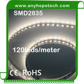 High lumen output led strip 120led per meter smd 3528 2835 low voltage