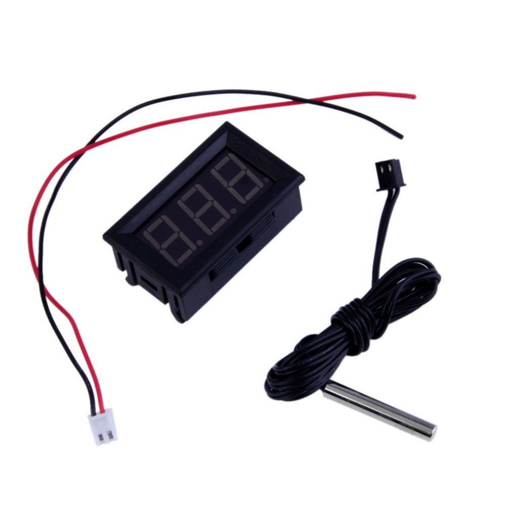 Professional Red 12V Digital Thermometer With Temp Probe Temperature LED Detector Stock Offer