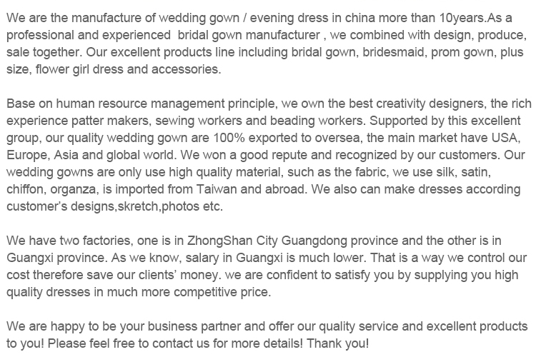 Custom made top quality chinese traditional long trail off-shoulder beaded anti-wrinkle wedding dress mother of the bride