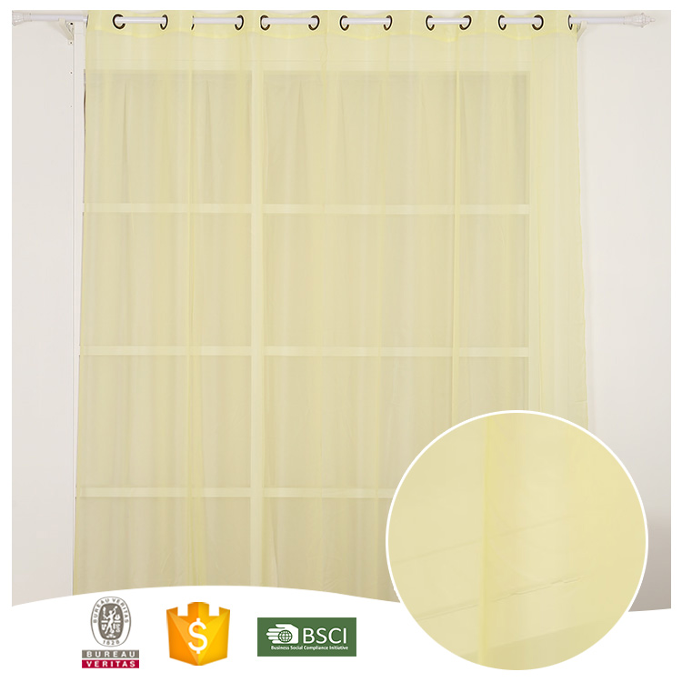 Top <strong>10</strong> For Home-use through the rod embroidered sheer voile curtain fabric