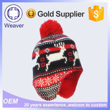 Wholesale Knitting Pattern Animal Earflap Bear Ear Beanie Hat / Knit Pattern for Hawith Earflaps