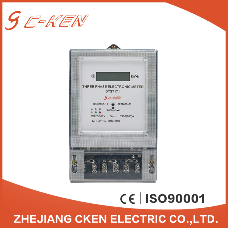 Cken Smart Multifunctional Meter Large LCD Electricity Three Phase Energy Meter