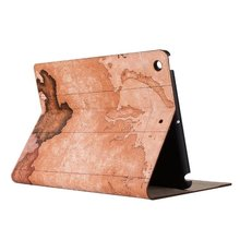 Hot selling World Navigation map pattern PU leather Tablet cover case for 2017 new iPad Pro 9.7