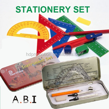 back to school 13 pcs Mathematical Set math set instruments compass set