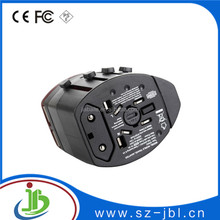 Newest plug with socket 2.1A dual usb world universal travel adapter