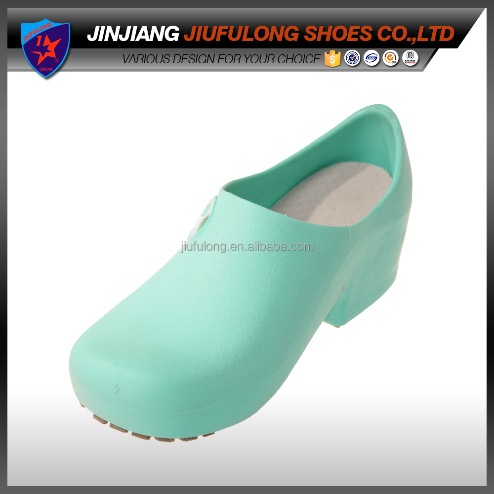 Hospital Elegent Blue White Uniform Anti-bacterial Sanitary Shoes/Clogs Nurse Doctor Shoe