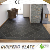 CE Passed Cheap Natural Black Stone Tile Slate Flooring