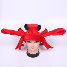 christmas holiday crazy fun Party Accessory Plush Crab Hat