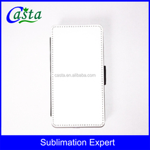 Blank Sublimation Solid Color Fabric design Stand Phone Wallet Case For ZTE Axon 7 mini
