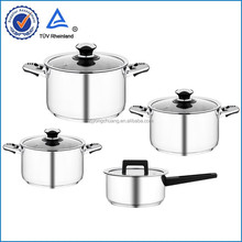 European stainless steel well equipped kitchen cookware