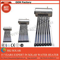 camping solar water heater glass water bong
