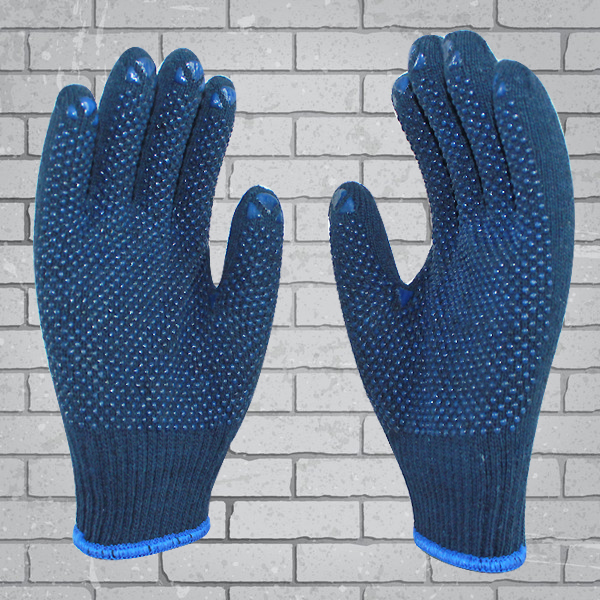Colored Cotton Gloves Construction Hand Gloves Dots