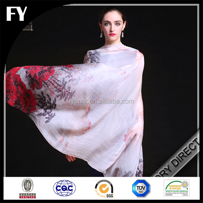 Factory direct custom digital printed stoles shawls from China