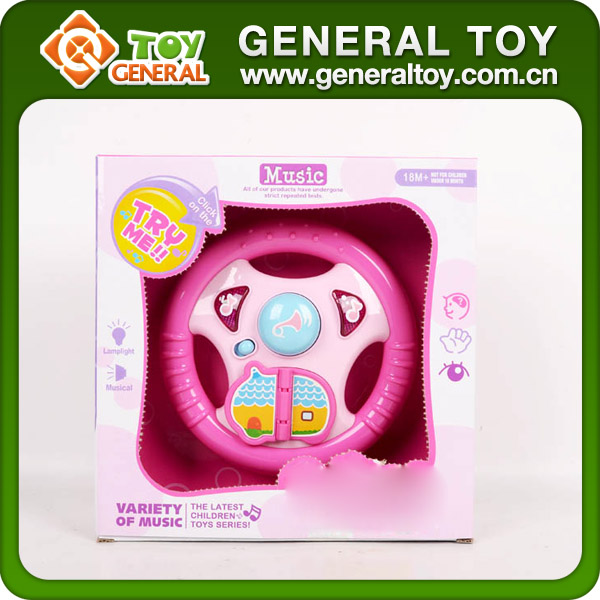 21.5*21.5*6.5cm Musical Plastic Kids Steering Wheel Toy For Toddlers