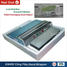 KW450 Small Food Tray Cling Film Wrapping Machine
