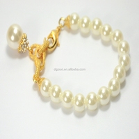 Wholesale 12mm Artificial Pearl Beads With Lobster Clasp Bracelet