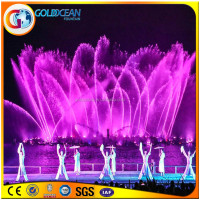 Submersible Pump Musical Software Controlled Floating Rose Fountain