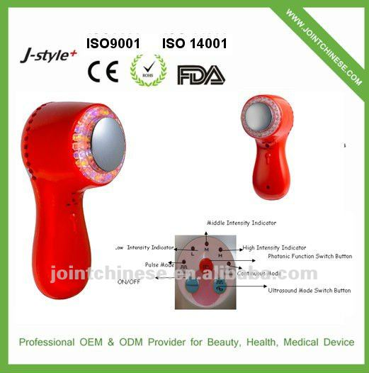 2012 best sell !! CHEAP Handheld galvanic red led therapy, Rejuvenates, freshens the skin's look