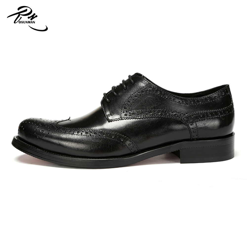 Real pure leather fashion brogue style new arrival red bottom men leather dress shoes
