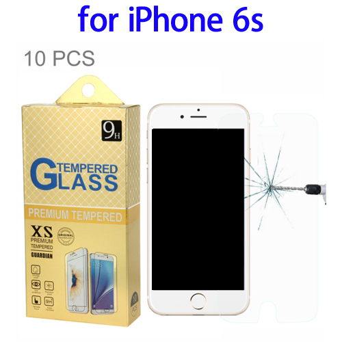 10 Pack Tempered Glass 9H Anti Scratch Crystal Clear Screen Protector Film for iPhone 6, Screen Protector for iPhone 6s