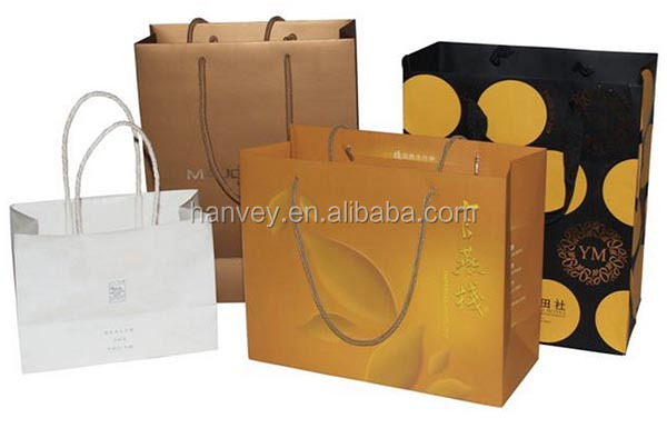 promotional gift cheap custom brown paper shopping bag/paper gift bag, printed craft kraft paper bag